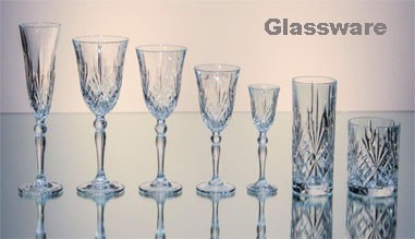 We have local and imported glass ware, Vases and cutlery for your promo requirements.