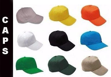 CAPS We can print or embroider Caps for your requirement. All colors available.